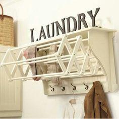 DIY Laundry Room Rack