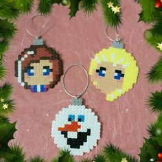 Frozen Christmas Baubles hama perler beads by ZoZoTings