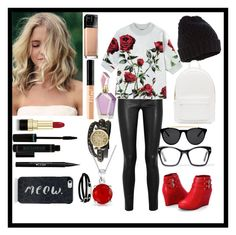"""""""day at college"""" by manakda on Polyvore featuring Helmut Lang, Dolce&Gabbana, Accessorize, PB 0110, Ashley Stewart, Smoke & Mirrors, Maybelline, Stila, Bling Jewelry and McQ by Alexander McQueen"""