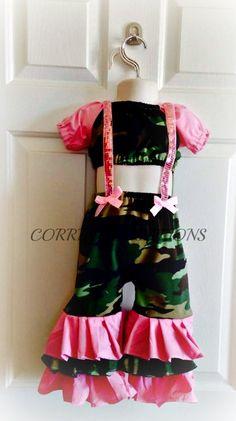 OTT, Pageant Wear, Army, Camo Wear, Boutique Style size Ruffle dress 6, 12 24 months, size 2 3 4 5T on Etsy, $56.99