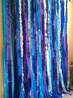 Streamer Backdrop l Photo Booth Photography Backdrop l Navy Blue Purple Turquoise Lavender Ivory  l Home Birthday Wedding Party Decor