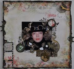 Gry Anitas scrapperom: Steampunk layout