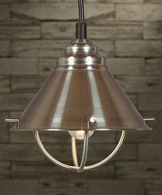 Loving this Brushed Silver Minimalist Mini Pendant Light on #zulily! #zulilyfinds