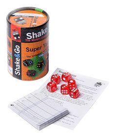 Shake & Go Super Yatzy Dice Game #zulily #zulilyfinds