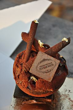 Foret Noire Pastry from Cafe Pouchkine in Paris