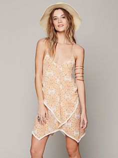 Intimately Printed Chiffon Slip at Free People Clothing Boutique