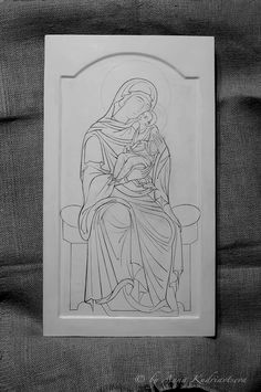 Religious Cross Stitch Patterns, Byzantine Icons, Orthodox Icons, Sacred Art, Virgin Mary, Easy Drawings, Sketches, Templates, Cartoon