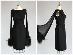 Hey, I found this really awesome Etsy listing at https://www.etsy.com/listing/262596968/1960s-cocktail-dress-black-chiffon-dress