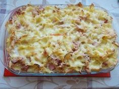 Sonkás-krémsajtos rakott tészta Meat Recipes, Cooking Recipes, Healthy Recipes, Smoothie Fruit, Tasty, Yummy Food, Winter Food, Pasta Dishes, Macaroni And Cheese