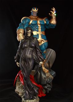 Bowen statue: Thanos and Lady Death Comic Movies, Comic Books Art, Comic Art, Marvel Comics Art, Marvel Heroes, Marvel Comic Character, Marvel Characters, Coleccionables Sideshow, Sideshow Collectibles