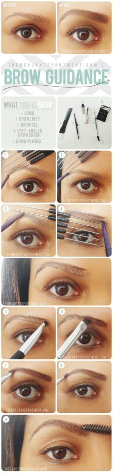 Guidance on Making Perfect Eyebrows @Tianna Marks Marks Marks Marks Marks Lund #PerfectEyebrowa #DIYtips