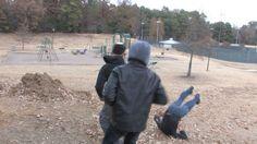 """Joshua Brogan"" kicks ""Spike Fulgham"" down a hill as he has to fight two gang members at once."