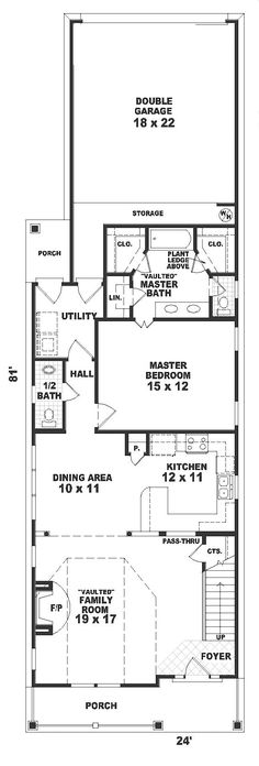 House Plan 46358 at FamilyHomePlans.com  I love how the layout is in the master bath....I would just turn the tub into a shower with a built in seat.