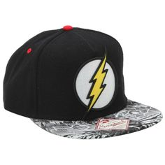 DC Comics The Flash Logo Snapback Hat | Hot Topic (50.235 COP) ❤ liked on Polyvore featuring accessories, hats, comic book, embroidery hats, cartoon snapback, embroidered hats and snapback hats