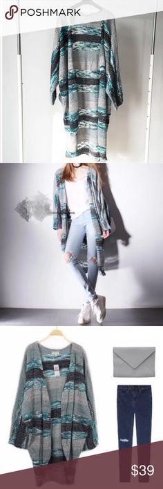 Spotted while shopping on Poshmark: Slouchy pattern cardigan! #poshmark #fashion #shopping #style #Sweaters