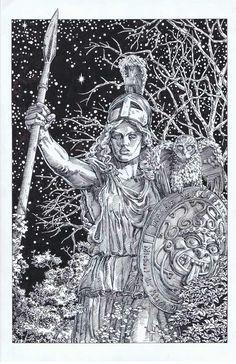 For sale - - Athena pen & ink on 11 x 17 bristol board $400 or best ofer