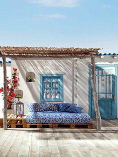 Aménager une terrasse originalement.