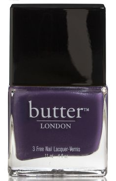 "Dark Purple Nail Polish by butter LONDON – Marrow ""A hand-mixed dark purple nail lacquer for the Vena Cava designers, who named it after the dark, purple, rusty center of a bone."""