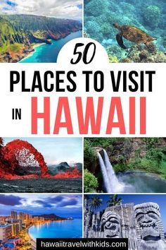 Planning a Hawaii vacation or just wanderlusting? You'll want to check out these 50 Best Places to Visit in Hawaii including top Hawaii attractions like Pearl Harbor and Hawaii Volcanoes National Park Hawaii Travel Guide, Usa Travel Guide, Travel Usa, Maui Travel, Croatia Travel, Travel Deals, Italy Travel, Travel Guides, Travel Tips
