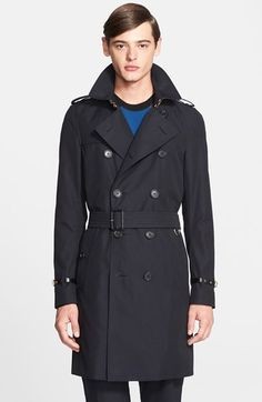 Burberry+London+'Kensington'+Leather+Trim+Double+Breasted+Trench+Coat+available+at+#Nordstrom