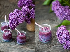 Lilac smoothie