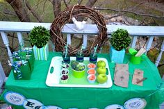Earth Day party table #earthday #partyplanning