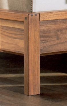 Amazing dovetailing detail on the TEAM7 Valore Relief bed in solid walnut #solid #wood #bedroom