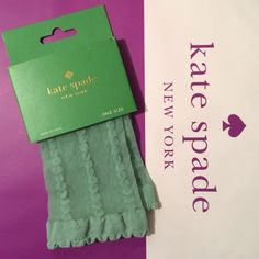 """Spotted while shopping on Poshmark: """"%Authentic♠️kate spade♠️ Anklet Socks-Mint Cream""""! #poshmark #fashion #shopping #style #kate spade #Accessories"""