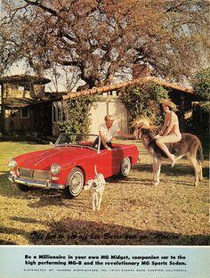 1963 MG Midget ad