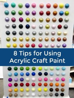 I love using craft paint - it's one of my top crafting supplies. In this article I share my 8 favorite tips for how to use acrylic paint. via @modpodgerocks