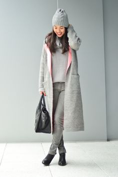thefashionpledge.com  Pink and Grey Coat