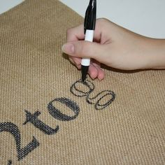 DIY Burlap Worded Pillow