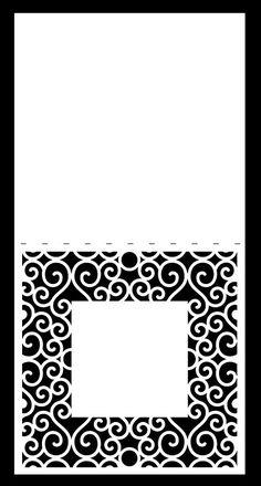 Swirly Background Card 8