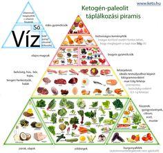 Egészséges paleo táplálkozási piramisok és ábrák: Ketogén-paleolit piramis, Tökéletes egészség diéta, Kitavai paleo étrend