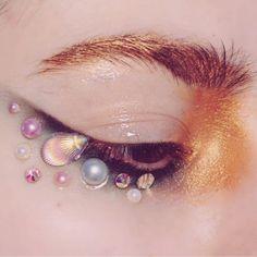 Mermaid Face Gems Sea Shells Pearls Crystals Face Gems Jewels Bindi... ($8) ❤ liked on Polyvore featuring jewelry, sea shell jewelry, sparkle jewelry, evening jewelry, christmas jewelry and birthday jewelry