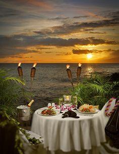 diner aux chandelles avec vue sur la mer
