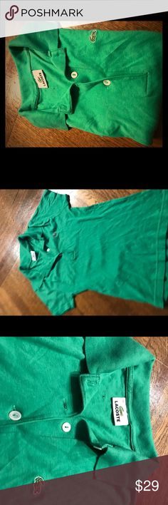 Lacoste Green Polo Green like new Lacoste polos size 36 Lacoste Tops Tees - Short Sleeve