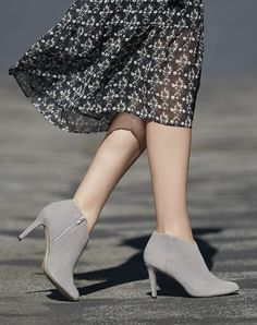 grey suede stiletto booties | now 40% off + free shipping!