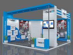 Exhibition Stand 3Ds Max Model | 6 mtr x 6 mtr | 2 side open  Free Download 3Ds Max File: http://www.proarch3d.com/exhibition-stall-3d-model-6-mtr-x-6-mtr-2-side-open/