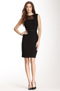 Taylor Mesh Panel Textured Sheath Dress by Non Specific on @HauteLook