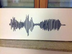 Sound wave embroidery