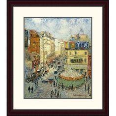 Global Gallery 'La Rue De Clignancourt' by Gustave Loiseau Framed Painting Print Size: