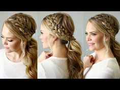 Double Braided Ponytail - YouTube for super cute, classic hairstyle