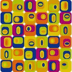 Ausgefallenes #Retro-Muster für den modernen Einrichtungsstil #tapeterie