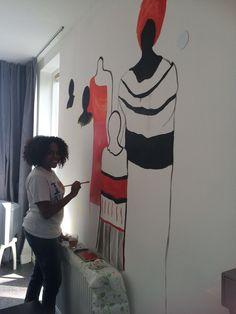 Muurschildering met een bijbelvers ' Sterke vrouw'   #kunstenaar #artwork #painting #painter #painterlife #wonen #wallpainting #muurschildering #muurdecoratie #muurschildering #eigenontwerp #kantoorinrichting #kantoor #kinderkamer #kidsroom #kinderdecoratie