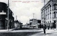 Elizabeth Street, Barrie - Looking West (B&W)