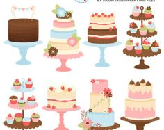 Cakes Clipart Set clip art set of elegant by mycutelobsterdesigns