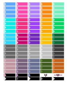 @planner.PICKETT: Free Multicolor Event Label Planner Sticker Printable