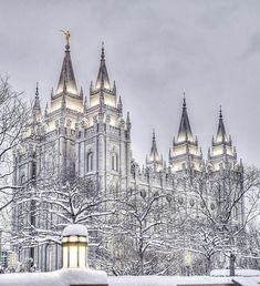 The Temple of Latter Day Saints in Salt Lake City, Utah Lds Temple Pictures, Lds Pictures, Mormon Temples, Lds Temples, Salt Lake Temple, Salt Lake City Utah, Beautiful Castles, Beautiful Buildings, Later Day Saints