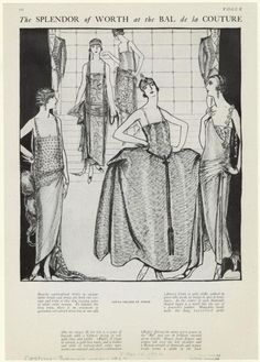 Evening dresses by Worth, 1922, Vogue